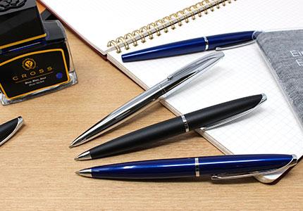 ATXエイティエックスブラッシュトクロームボールペン